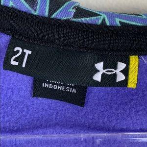 Under Armour Purple Zip Up Hoodie Sz2T